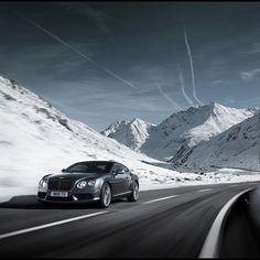 Beautiful Bentley taking on the mountain roads