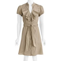 Walmart.com: Susie Rose Collection - Womens Career Casual Ruffle Front Woven Dress: Women