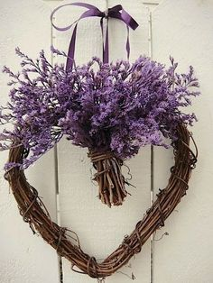 Lavender Heart Wreath <3