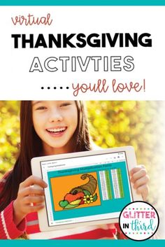 Virtual Thanksgiving Activities for school you'll LOVE! You may be teaching virtually, but that does not mean that you can't share some Thanksgiving fun with your kiddos. With everything going on right now, bring some familiarity and comfort in with Thanksgiving-related festivities. #thanksgivingactivites #digital #distancelearning #holiday #classroom #teachingideas GlitterinThird.com Third Grade Science, Third Grade Reading, Fall Preschool Activities, Thanksgiving Activities, Primary Teaching, Teaching Ideas, Learning Resources, Elementary Schools, Classroom