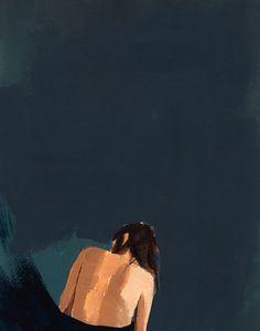 WAVES  large giclee art print poster of painting door tastesorangey, $65.00