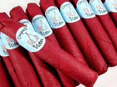 Charutos de chocolate para lembrancinha de maternidade =D