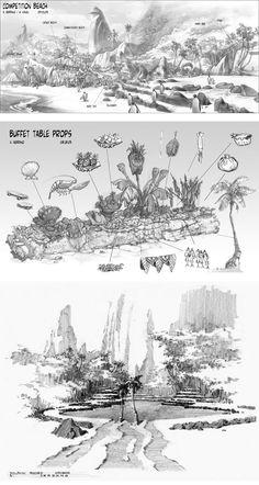 Surf's Up, dir. Ash Brannon and Chris Buck, Armand Serrano's concept art