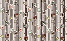 ABC Baby Coordinate - Owl Tree Stripe, color fabric by ttoz on Spoonflower - custom fabric