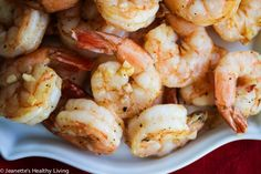 Roasted Shrimp Cocktail- Roasting the Shrimp + Fresh Garlic + Spanish Smoked Paprika take this Shrimp Cocktail to a whole new level - I just made these for a big gathering and they were a huge hit!
