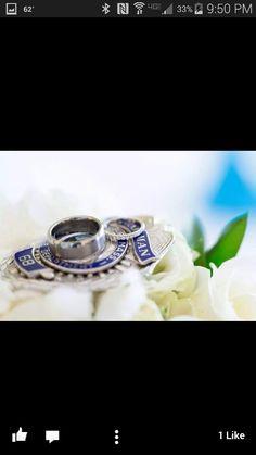 Rings on his badge; law enforcement police wife sheriff's deputy wife deputy wedding Leo