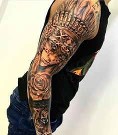 Cool Arm Tattoos For Men: Best Arm Tattoo Ideas and Sleeve Designs For Guys Feather Tattoos, Forearm Tattoos, Rose Tattoos, Body Art Tattoos, Tiger Tattoo Sleeve, Best Sleeve Tattoos, Mens Arm Sleeve Tattoo, Tiger Eyes Tattoo, Portrait Tattoo Sleeve