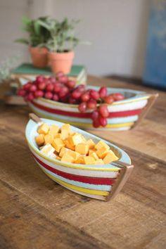 Kalalou Ceramic Boat Bowls - Set Of 2 #boataccessoriesdecor