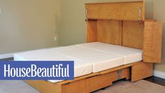 The CabinetBed Is a Cabinet ... And Also a Bed | HB House Beautiful, Beautiful Homes, Small Homes, Organizing, Cabinet, Bed, Furniture, Home Decor, House Of Beauty