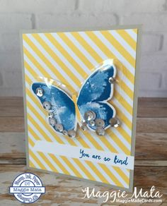 Watercolor Wings Stamp Set, Shaker Card using the Fuse Tool (We R Memory Keepers & Project Life have one) Stampin' Up!, Maggie Mata