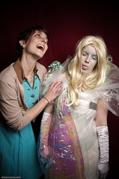 Twin Peaks Costumes: Waitress & Laura Palmer wrapped in plastic