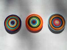 Paper+circles+wall+hangings+Set+of+3+wall+by+georgianacristea