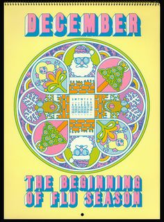 Psychedelic Hallmark Calendar, 1970 - by MewDeep, via Flickr