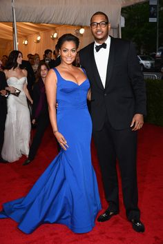 New York Knicks Carmelo Anthony and wife