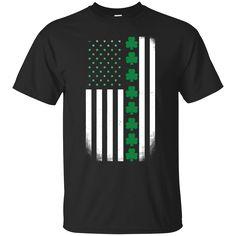 St. Patrick's Day: Irish American Flag Shirt Tank sold by iFrogtees