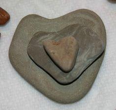 heart rocks found at Indiana Dunes Beach