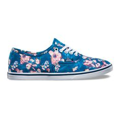 Authentic Lo Pro ($55) ❤ liked on Polyvore featuring shoes, sneakers, poseidon, low top shoes, floral print shoes, lace up sneakers, flower print sneakers and low top sneakers