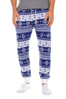 Blue and White Swants