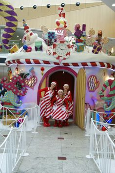 The Whimsical Cake Company was commissioned to design the Santa's Grotto for Canary wharf in London