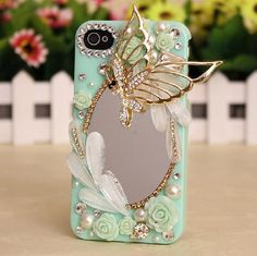 Dragonfly Mirror Deco Case can be made for  any phone . When you checkout be sure to write in the  Note to seller box in  Paypal and write the DEVICE you have (if its not listed in the drop down menu). Order yours today!!!!