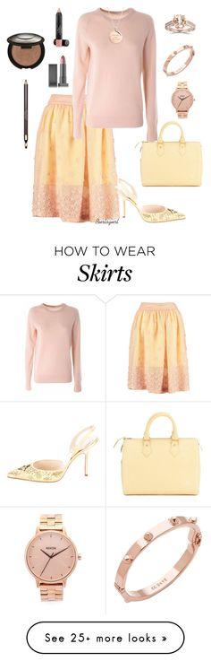 """The skirt ---> dressy"" by burlsgurl on Polyvore featuring Mode, By Sun, Equipment, Christian Louboutin, Louis Vuitton, Nixon, CC SKYE, Kate Spade, Laura Geller und Becca"