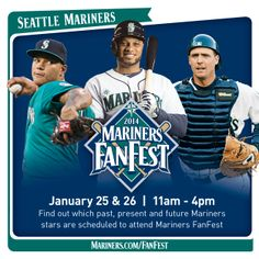 Find out who's coming to #MarinersFF next weekend. 1/18/14