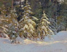 Barbara Jaenicke, Winter Pines Bathed in Light, pastel Pastel Landscape, Winter Landscape, Watercolor Landscape, Richmond Art Museum, Winter Pastels, Scenery Paintings, Pastel Paintings, Winter Painting, Virtual Art