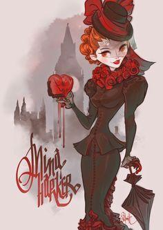 Mina Harker by Otto Schmidt Otto Schmidt, Caricatures, Vampires, Mina Harker, Pin Up, Graffiti, Timberwolf, Comic Book Artists, Girl Cartoon