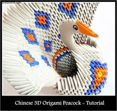 Chinese Origami Peacock and other 3D origami tutorials