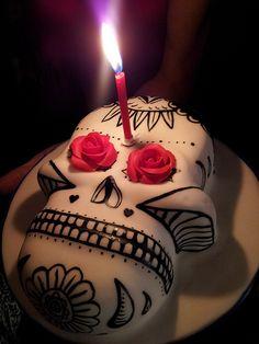 Skulls:  Sugar #skull cake.