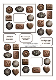 crafticious: Free Chocolates Printable