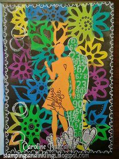 art journal page by Caroline Duncan ~ stampingsandinklings.blogspot.com ~ Dylusions, Dyan Reaveley
