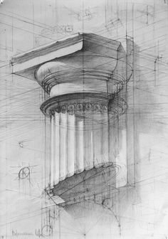 drawings of disney Architecture Drawings, Classical Architecture, Architecture Details, Academic Drawing, Academic Art, 3d Drawings, Drawing Sketches, Sketching, Perspective Drawing