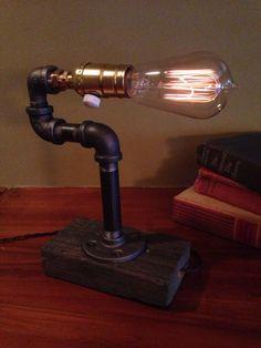 Dimmer knob Edison Light Metal Desk Lamp by UrbanIndustrialCraft, $30.00