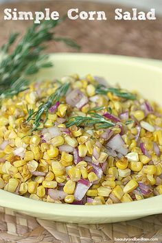 So delicious and take five minutes to whip together. Simple Corn Salad @beautyandbedlam