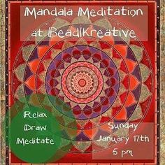 @beadkreative -  THIS SUNDAY: Mandala meditation class @ Beadkreative. 5PM $20. Relax from the holiday stress with a guided meditation and then engage your creative side with Mandala coloring. #beadkreative #mandala #mandalaboston #CambMA #Somerville #UnionSquareMA #Boston #meditation #DavisSquare #CentralSquare #bostonmeditation #Regrann by unionsquarema January 15 2016 at 06:29AM