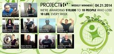 "Congrats to this week's Project 10 Challenge winners! All these ppl have won $1,000 each for losing 10lbs or gaining 10lbs of lean muscles. PLUS they won the free t-shirt of ""I Lost it and a kid won"" or ""I Built it and a Kid won"" AND they also helped feed a child in need to get healthy with 30 meals. These kids are obese, being bullied, Want your chance to win $1,000? How about you do Project 10 Challenge and do just that asap! http://thelifebyvilife.com and http://thelifebyvilife2.com"