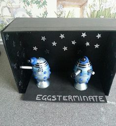 Eggsterminate Dalek Easter Eggs DIY Dr Who style!