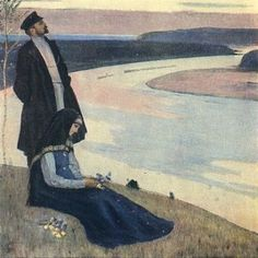 Mikhail Nesterov - Beyond the Volga 1905