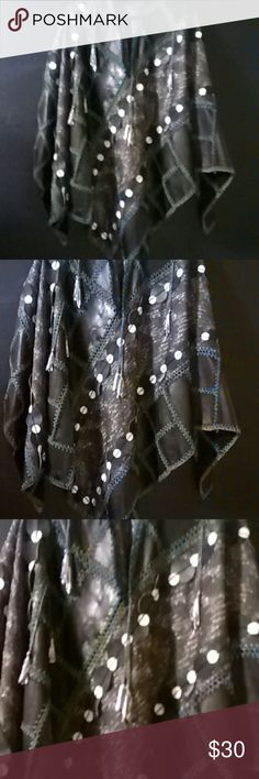 Unique Poncho This is one of a kind.  Beautiful and unique. Happy Poshing Any questions please feel free to ask. Jackets & Coats