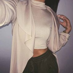 @ninninguyen wears our HARMONY crop top £8. SHOP HERE: http://www.wearall.com/harmony-turtle-neck-crop-top
