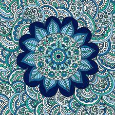 'Ocean Flower' #zentangle #beautiful_mandalas #drawing #featuregalaxy #art_we_inspire #zendoodle #zentangleart #instaart #instadraw