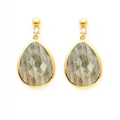 GFG Jewellery - Paloma Earring (£405) ❤ liked on Polyvore featuring jewelry, earrings, 18 karat gold jewelry, 18 karat gold earrings, earring jewelry, 18k jewelry and polish jewelry