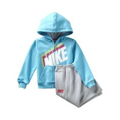 Nike YA76 Full-Zip Fleece Two-Piece Infant Girls' Set - $48