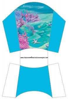 Cajitas imprimibles bajo el mar .