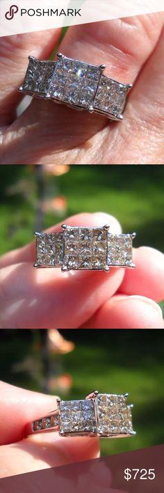 *LAST DAY* 2 carat 10k white gold diamond ring Gorgeous 2 carat 10k white gold diamond ring Jewelry Rings