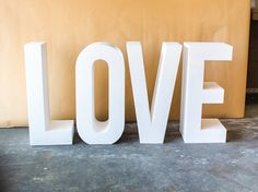 Love Block Letters for Wedding Sign Large by ZCreateDesign