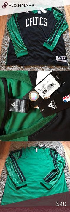 NWT  celtics long sleeve! NWT! Adidas Boston Celtics long sleeve shirt in men's xxL never worn..perfect condition ☺️ Adidas Shirts