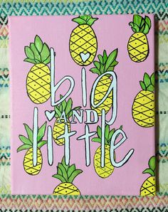 Big and little sorority canvas by SoDarlingCrafts on Etsy