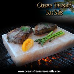 Heat on the grill to sear seafood and meat, or chill for serving a selection of fruits, vegetables and cheeses with a hint of salt.